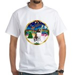 XmasMusic 3/ St Bernard #1 White T-Shirt