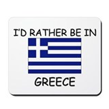 Flag greek Mouse Pads