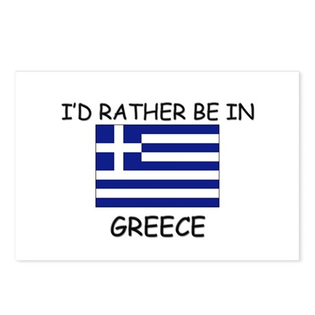 I'd rather be in Greece Postcards (Package of 8)