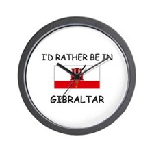 I'd rather be in Gibraltar Wall Clock