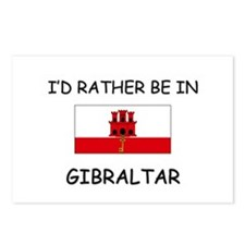 I'd rather be in Gibraltar Postcards (Package of 8