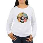 XmasMusic 3/Sib Husky Women's Long Sleeve T-Shirt