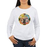 XmasMusic 3/3 Cairns Women's Long Sleeve T-Shirt