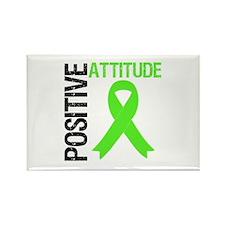 Lymphoma Positive Attitude Rectangle Magnet