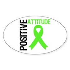 Lymphoma Positive Attitude Oval Sticker (10 pk)