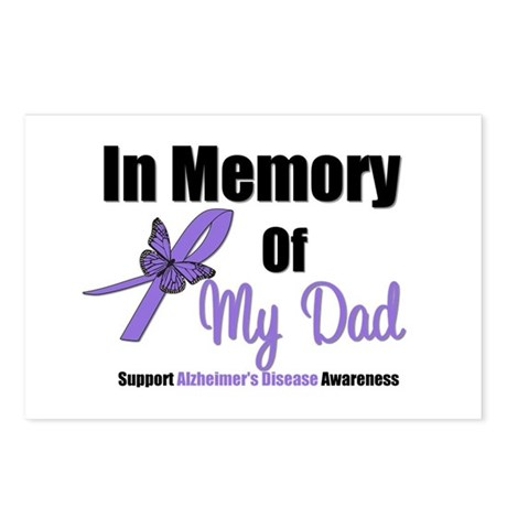 Alzheimer's Memory Dad Postcards (Package of 8)