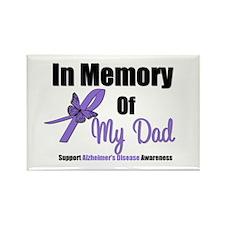 Alzheimer's Memory Dad Rectangle Magnet