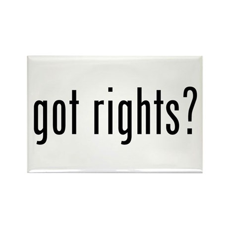 got rights? Rectangle Magnet (100 pack)