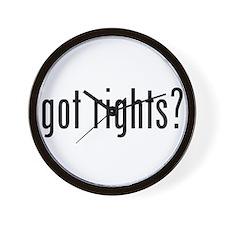got rights? Wall Clock