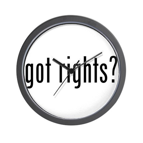got rights? Wall Clock