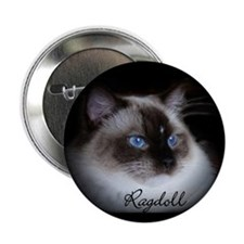 "Seal Mitted Ragdoll 2.25"" Button"