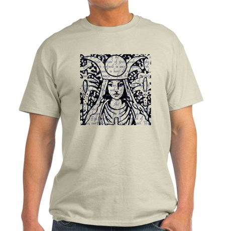 Tarot Key 2 - The High Priestess Light T-Shirt