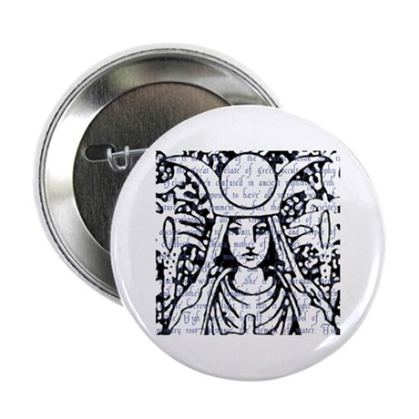 "Tarot Key 2 - The High Priestess 2.25"" Button"