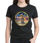 XmasStar/Silver Poodle #8 Women's Dark T-Shirt
