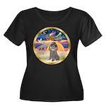 XmasStar/Silver Poodle #8 Women's Plus Size Scoop