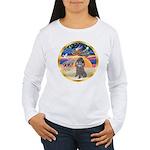 XmasStar/Silver Poodle #8 Women's Long Sleeve T-Sh