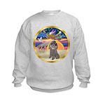 XmasStar/Silver Poodle #8 Kids Sweatshirt