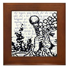 Tarot Key 3 - The Empress Framed Tile