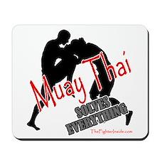 Muay Thai Solves Everything Mousepad