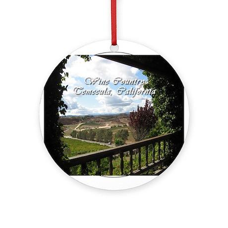 Temecula California Wine Country Ornament (Round)