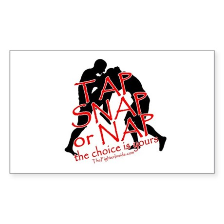 TAP SNAP OR NAP, THE CHOICE I Rectangle Sticker