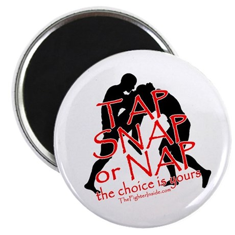 """TAP SNAP OR NAP, THE CHOICE I 2.25"""" Magnet (10 pac"""