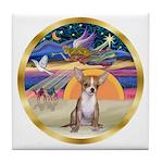 XmasStar/Chihuahua #1 Tile Coaster