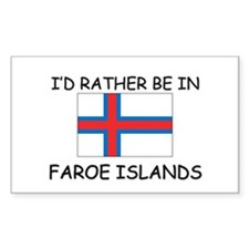 I'd rather be in Faroe Islands Rectangle Decal