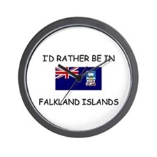 I'd rather be in Falkland Islands Wall Clock