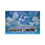Masonic Katrina & Rita Brothers Rectangle Magnet