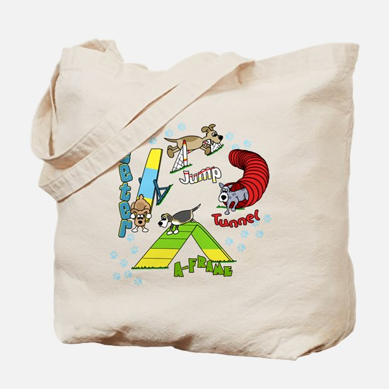 Four Agility Obstacles Tote Bag