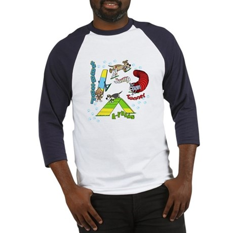 Four Agility Obstacles Baseball Jersey
