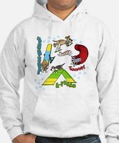 Four Agility Obstacles Hoodie