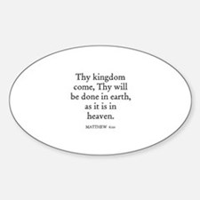 MATTHEW 6:10 Oval Decal