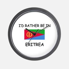 I'd rather be in Eritrea Wall Clock