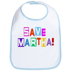 Save Martha Snap Bib