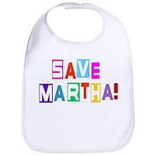 Save Martha Snap Bib