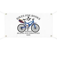Masons Bikes for Books program Banner