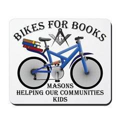 Masons Bikes for Books program Mousepad