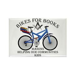 Masons Bikes for Books program Rectangle Magnet