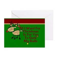 Suck My Balls Greeting Cards (Pk of 10)