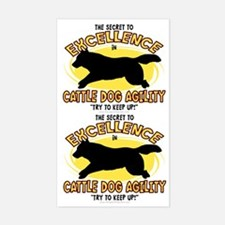 The Secret to Cattle Dog Agility Sticker (2 in 1)