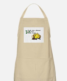 ask about my yule log BBQ Apron