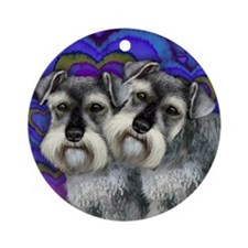 STANDARD SCHNAUZER DOGS LOVE Ornament (Round)