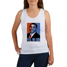 Obama: Yes We Did! Women's Tank Top