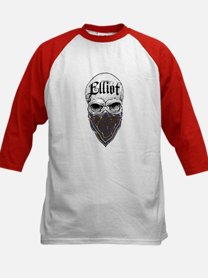 Elliot Tartan Bandit Kids Baseball Jersey