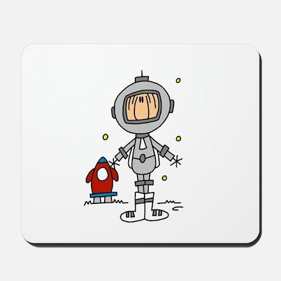 Stick Figure Astronaut Mousepad
