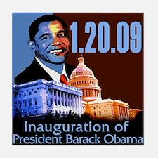 1.20.09: Barack Obama's Inaug Tile Coaster