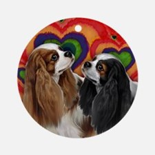 CAVALIER KING CHARLES SPANIEL DOG Ornament (Round)
