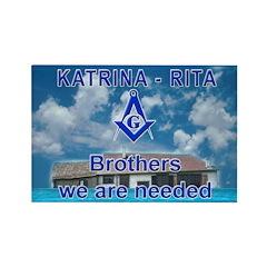 Masonic Katrina-Rita Rectangle Magnet (100 pack)